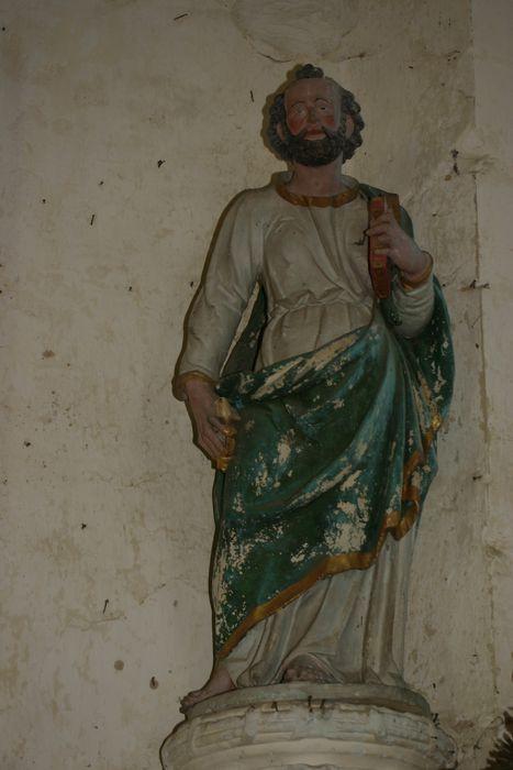 Deux statues : Saint Pierre et Saint Sébastien