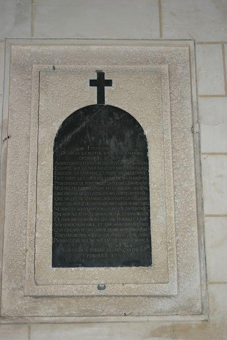 Plaque funéraire (épitaphe) de Jean de la Mothe