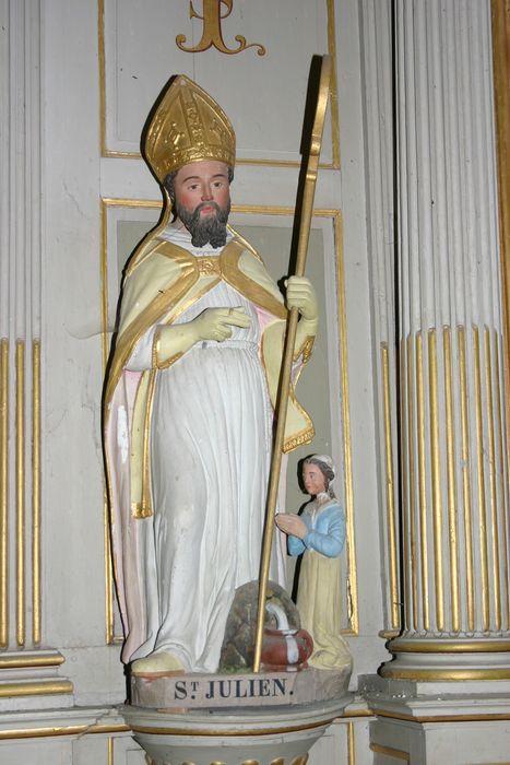 Groupe sculpté : Saint Julien et le miracle de la fontaine