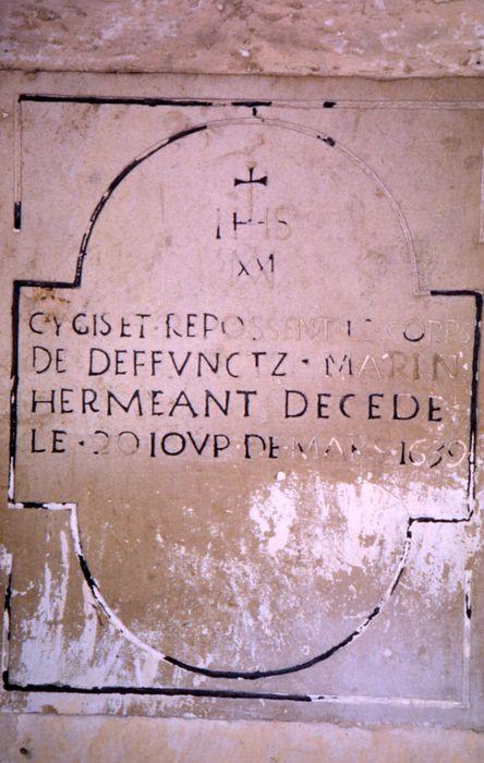 Plaque funéraire de Marin Herméant