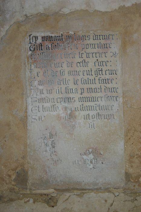 Plaque funéraire de Gervais le Verrier