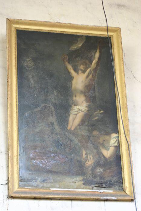 Tableau et son cadre : Christ expirant sur la croix