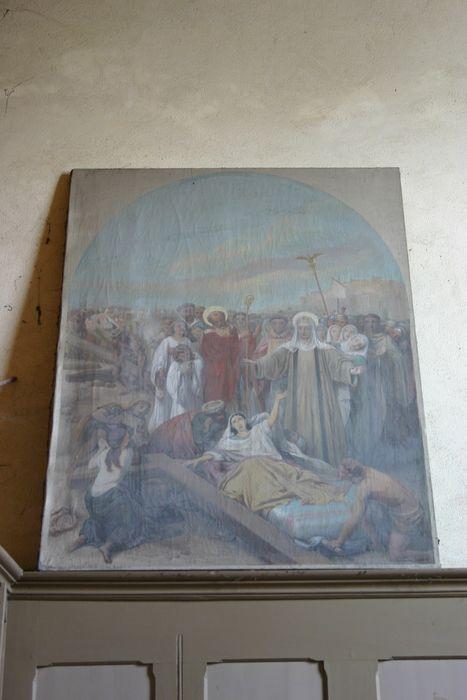 Tableau et son cadre : Invention de la sainte croix par sainte Hélène