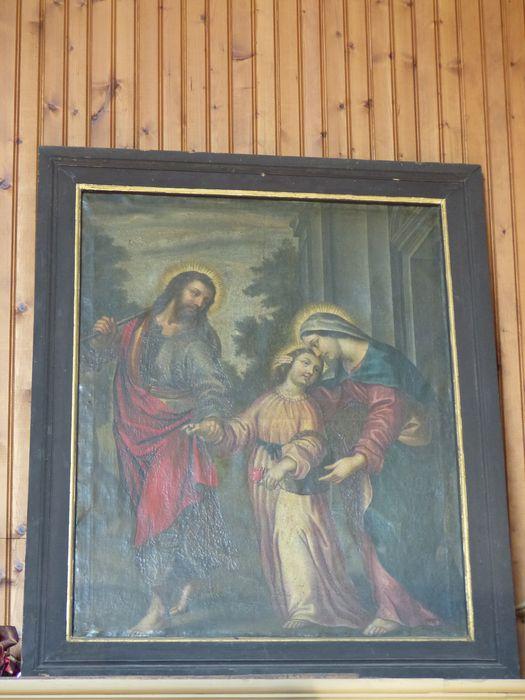 Tableau et son cadre : Sainte Famille