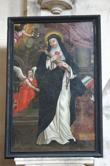 Tableau et son cadre : Sainte Thérèse