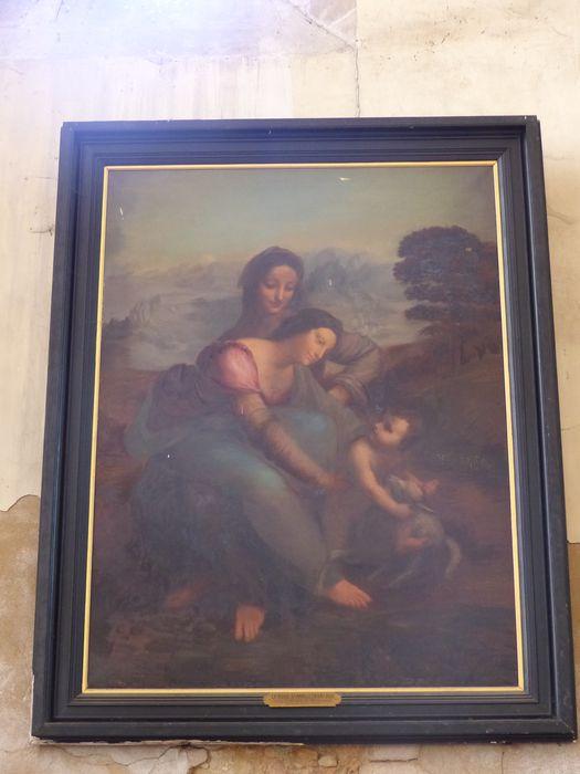Tableau et son cadre : Vierge, sainte Anne et l'Enfant