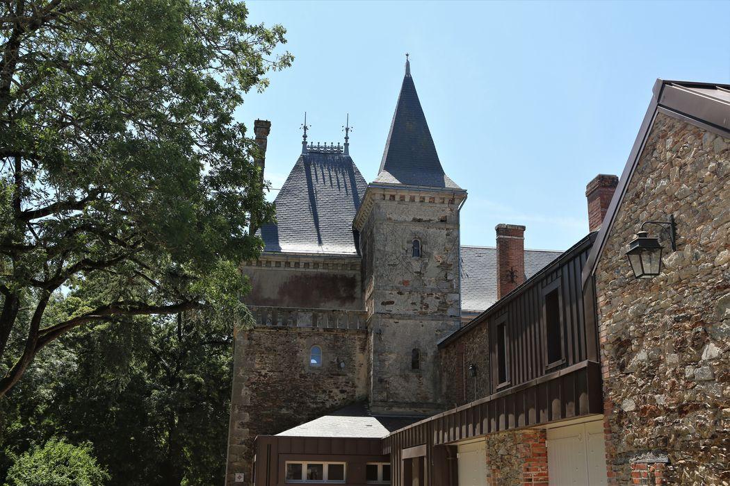 Domaine de la Haute-Braconnière, vue partielle des bâtiments depuis le Nord