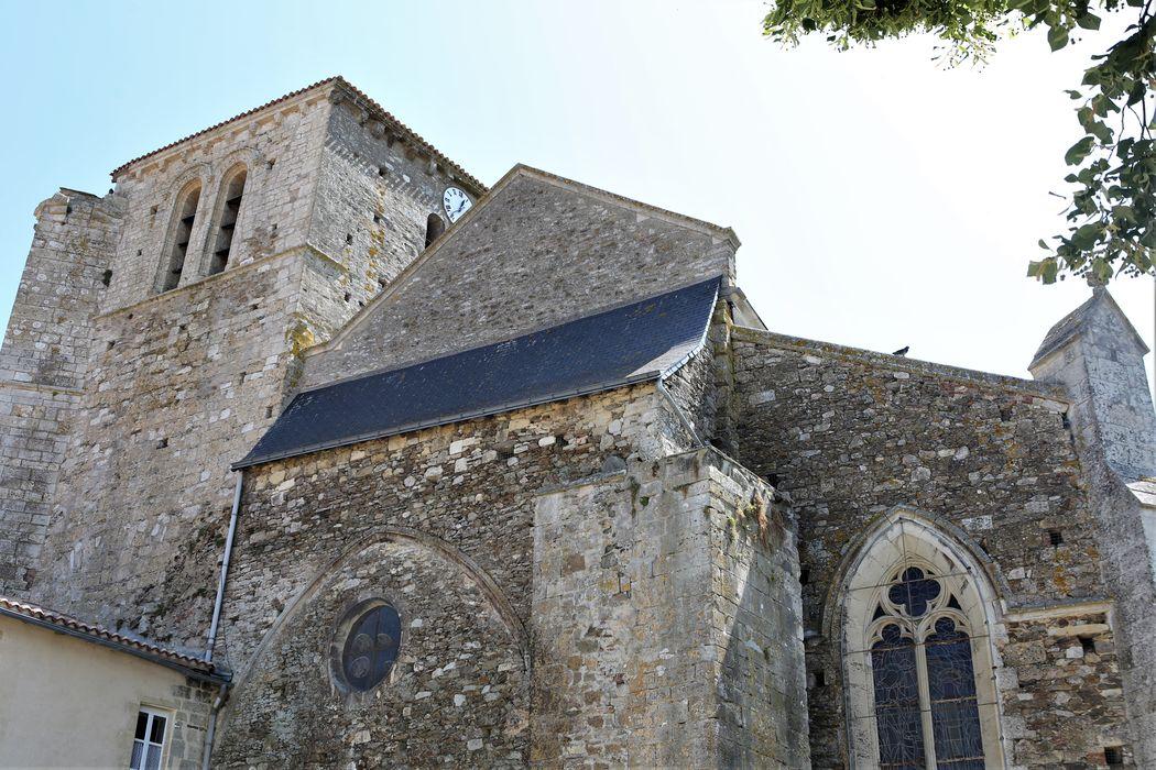 Eglise, vue partielle façade occidentale, vue partielle