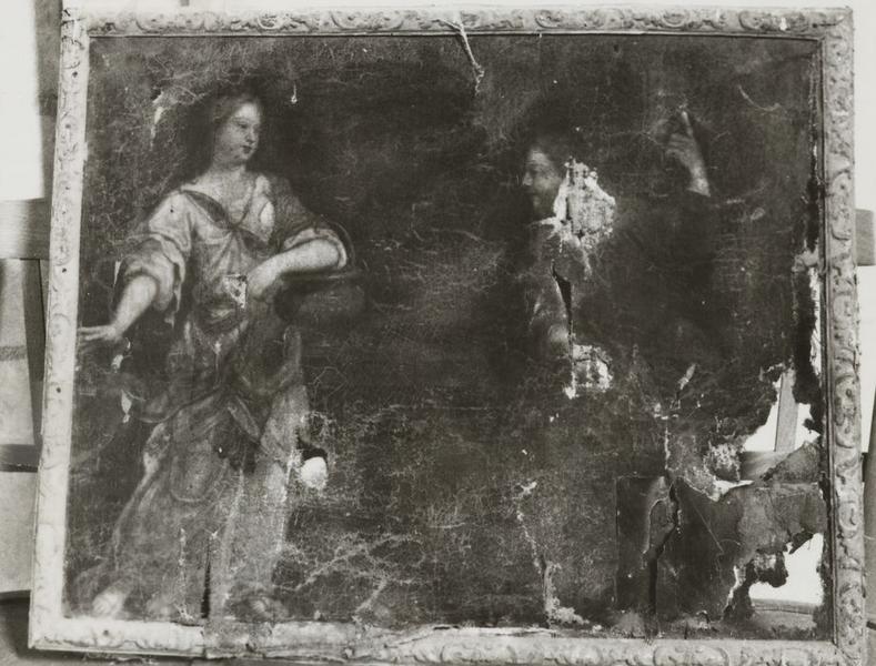 Tableau : Madeleine et Christ ressuscité