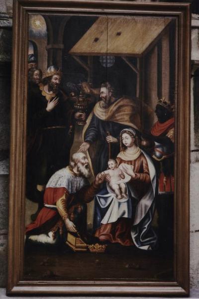 Panneau peint : l'Adoration des Mages