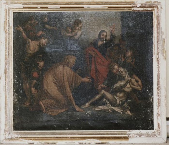 Tableau et cadre : Résurrection du fils de la veuve de Naïm