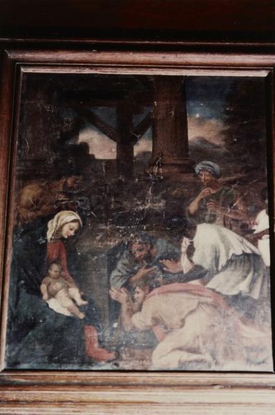 Tableau (dossier du banc d'oeuvre) : Adoration des Mages