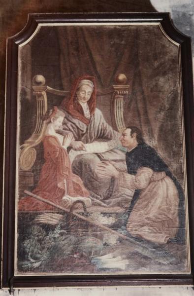 Tableau : Sainte Anne, la Vierge et saint Fiacre