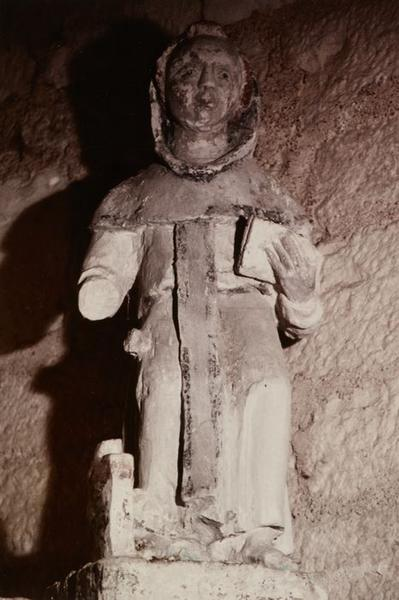 Statue : Saint moine assis