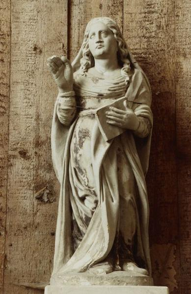 Statue : Sainte au livre (sainte Madeleine ?)