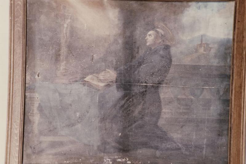 Tableau : Saint François d'Assise en prière et recevant les stigmates