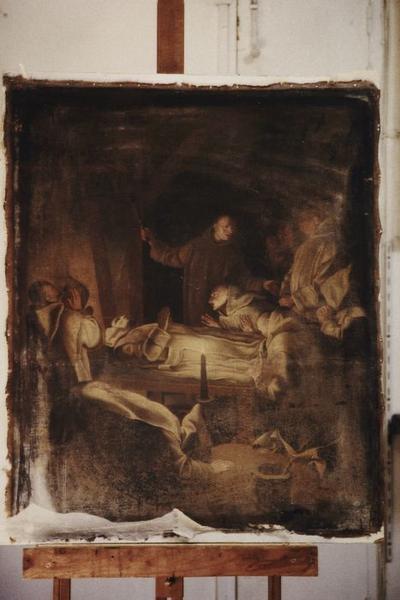 Tableau : Mort de saint Bruno