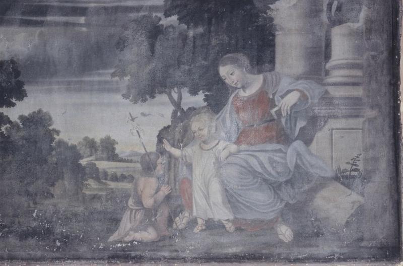 Tableau : Vierge à l'enfant et saint Jean-Baptiste
