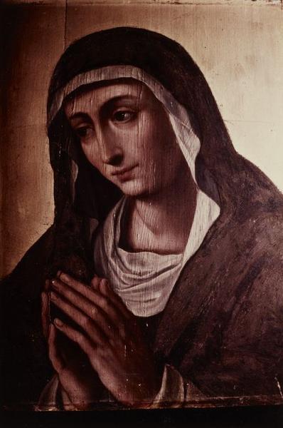 Tableau : Christ couronné d'épines et Vierge de douleur