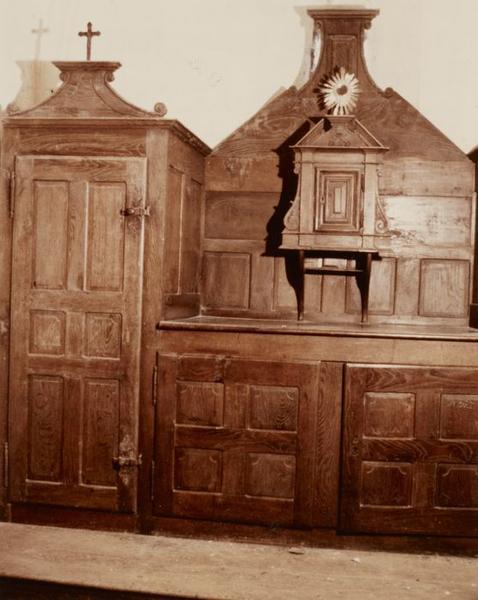 Meuble de sacristie ; tabernacle