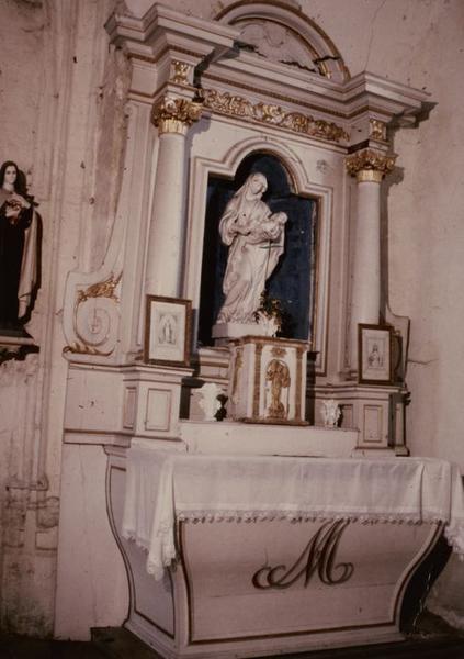 Autel, retable, tabernacle (autel latéral)