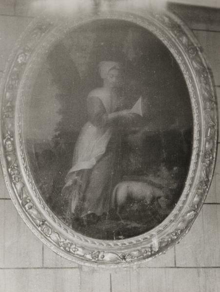 Tableau : Sainte Bergère au mouton