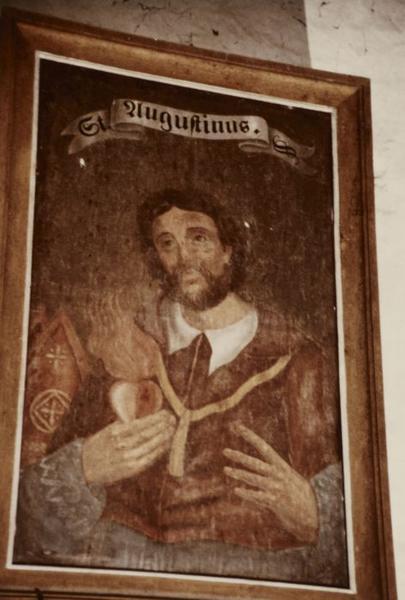 4 tableaux : Docteurs de l'Eglise, Saint Augustin, saint Grégoire, saint Ambroise et Saint Jérôme