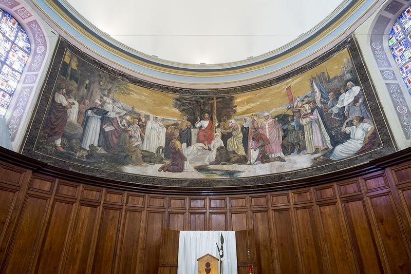 peinture monumentale de l'abside, vue générale