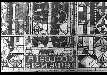 Calque de vitrail de Poncis Simon d'apres un vitrail déposé provenant de l'abside