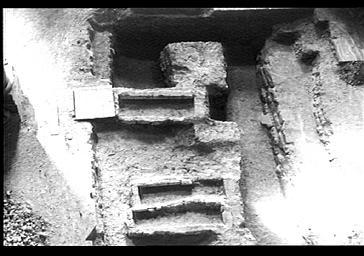 Vue intérieure, bras nord du transept vu des voûtes
