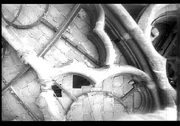 DETAIL DE LA GRANDE ROSE DE LA FACADE OUEST