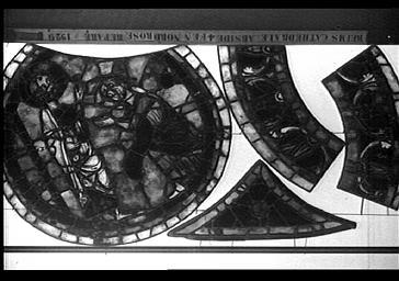 Vitrail, SAINT-THOMAS, ABSIDE, COTE nord, baie 203, REPARE EN 1929