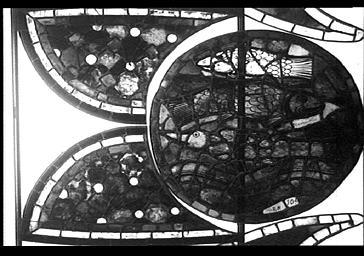 Vitrail, La Création, façade du bras nord du transept, baie 215, rose, médaillon 20