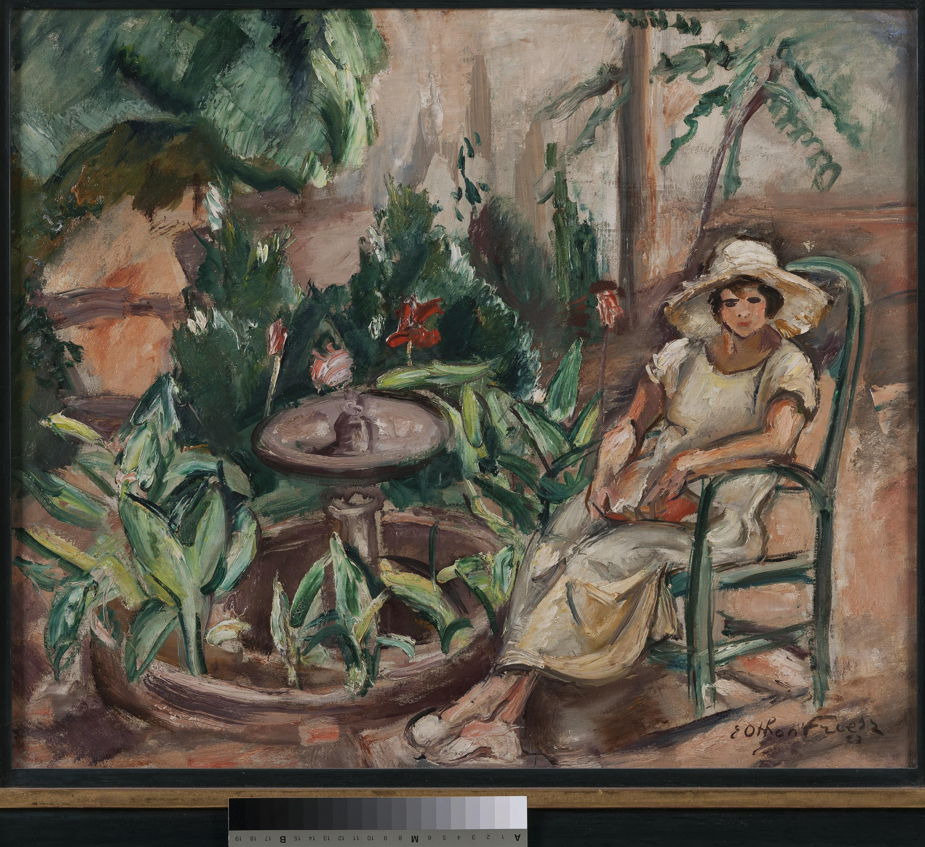 Femme dans un jardin_0