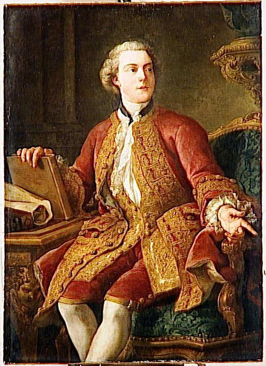 Portrait de M. Abel-François Poisson de Vandières, marquis de Marigny,  directeur Général des Bâtiments du Roi (1727-1781)