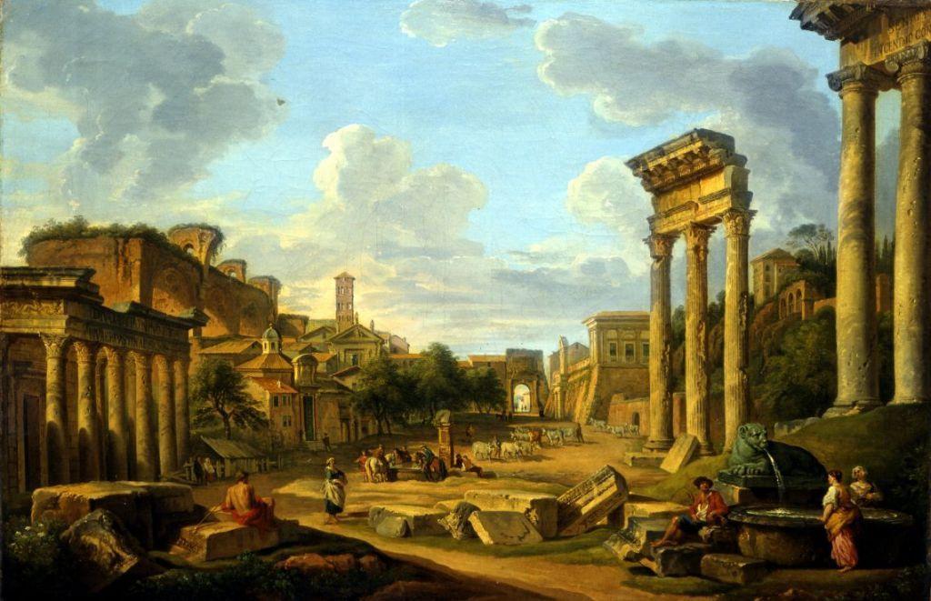 Vue du Forum à Rome_0