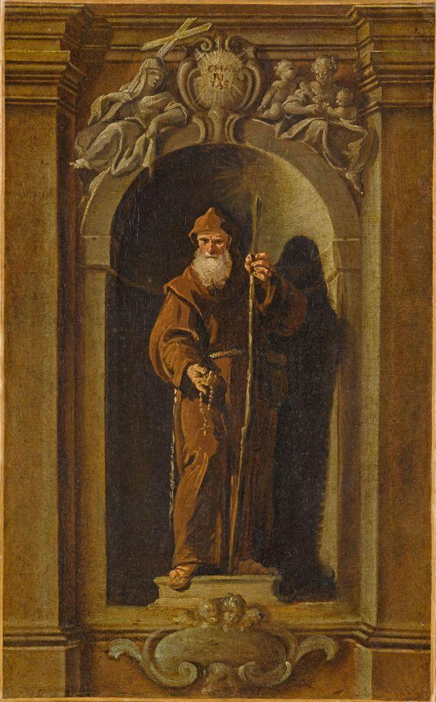 Saint François de Paule, représenté dans une niche_0