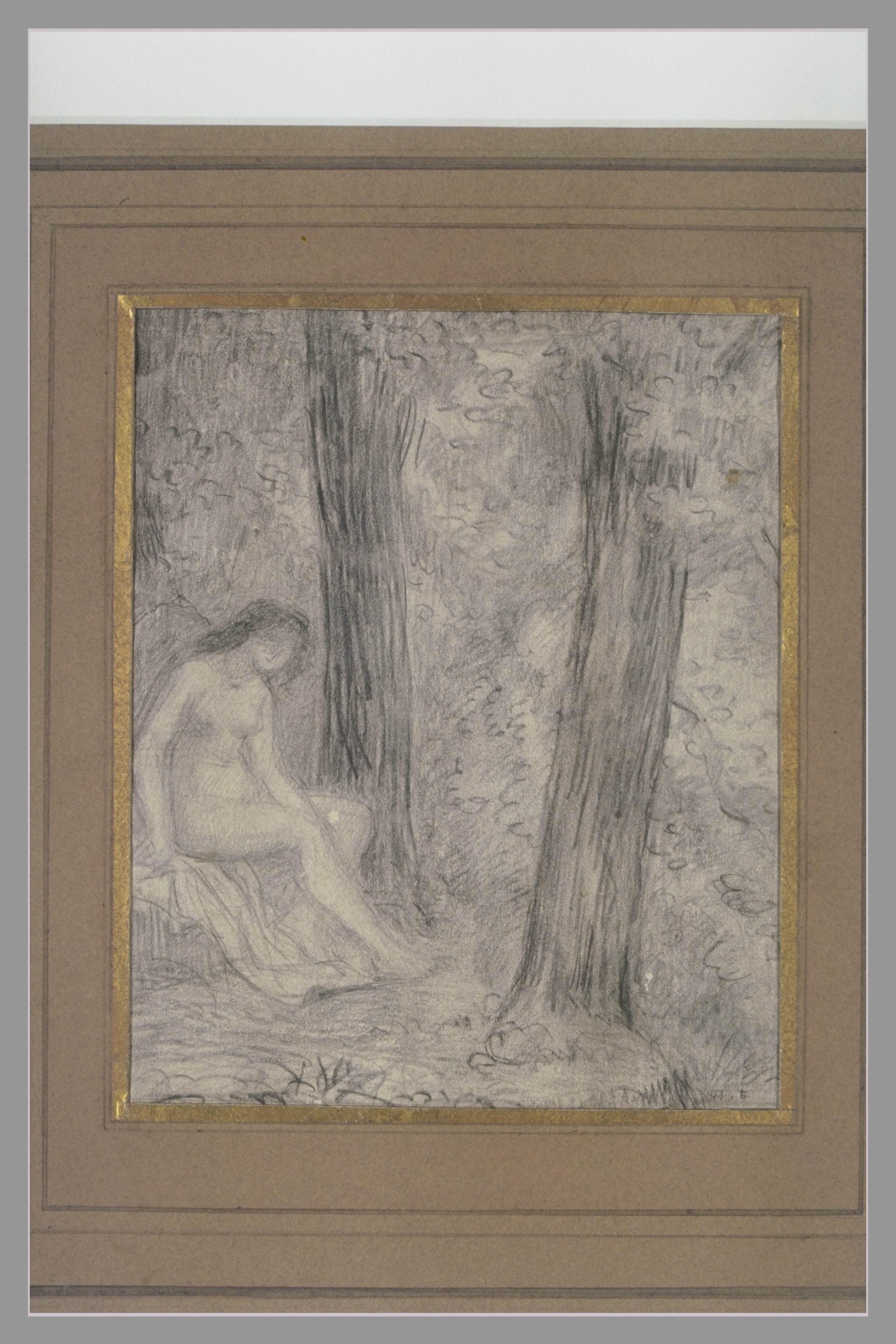 Jeune femme nue dans un paysage_0