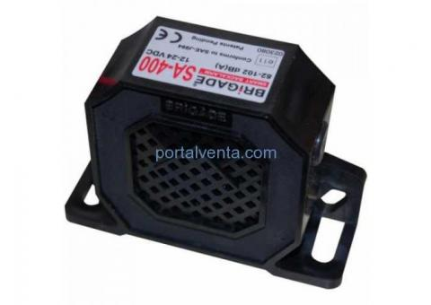 ALARMA MARCHA ATRÁS 82-102 dB 12-24 V. MOD(SA-400)