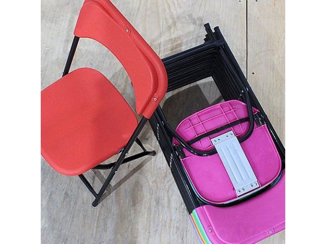 Sillas infantiles plegables de pl stico de colores for Compra de sillas plegables