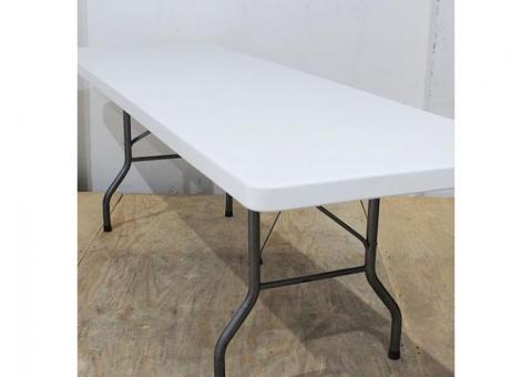 Mesa rectangular de plástico