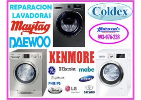 Técnicos de lavadoras daewoo y mantenimientos