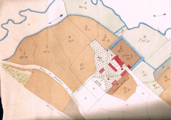 Le voisinage immédiat du manoir en 1883.