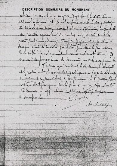 Page 2 du rapport préparatoire à l'arrêté de 1926.
