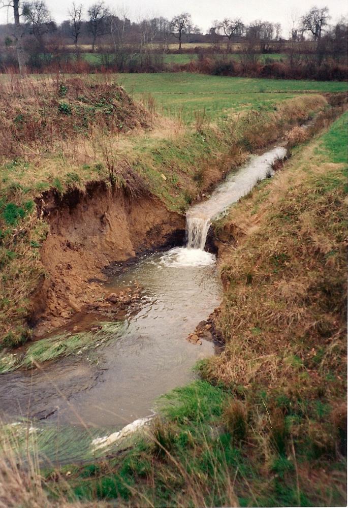 Février 1993, les effets de la puissance de l'eau...
