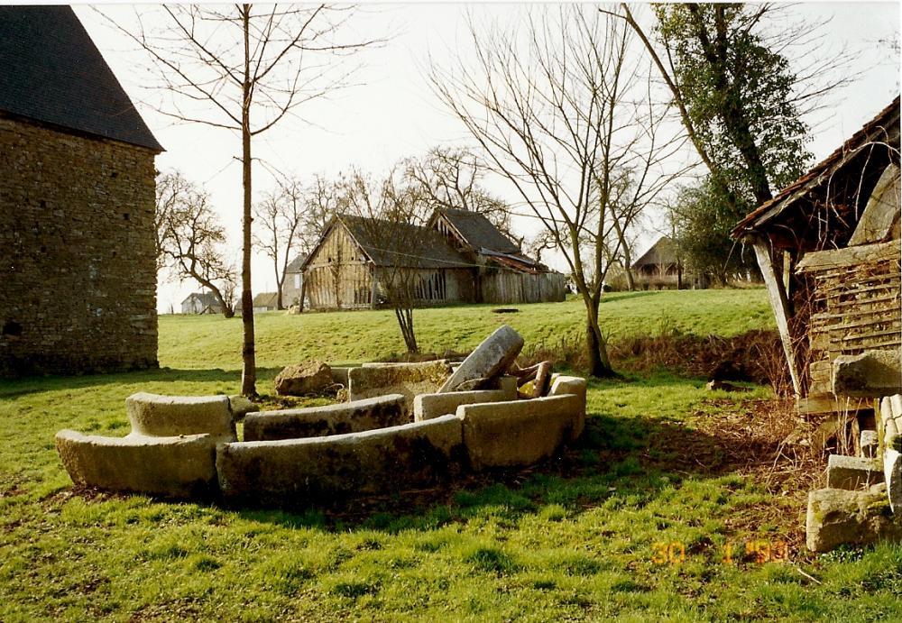 30 janvier 1993, vue de l'arrière-cour vers la ferme.