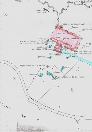 Plan annexé à l'arrêté de 1995 (moitié gauche).