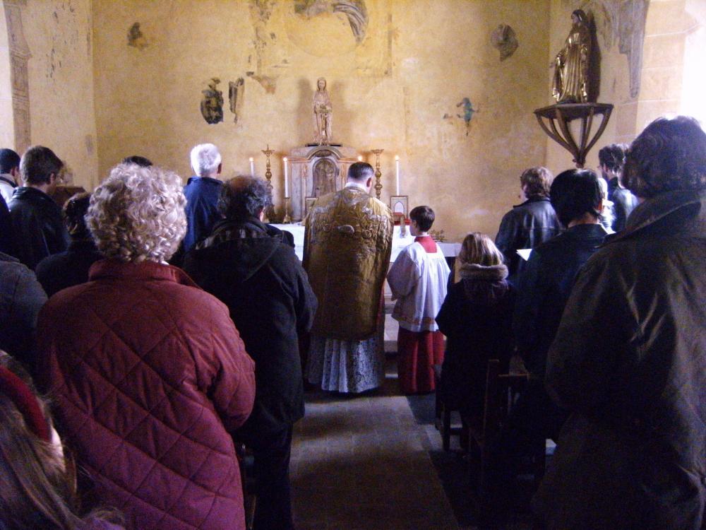 1er novembre 2010, messe à la chapelle Sainte Anne.