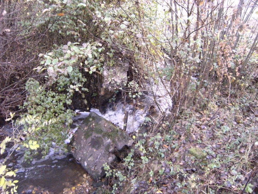 7 novembre 2011, le bief amont entrevu de l'aval.