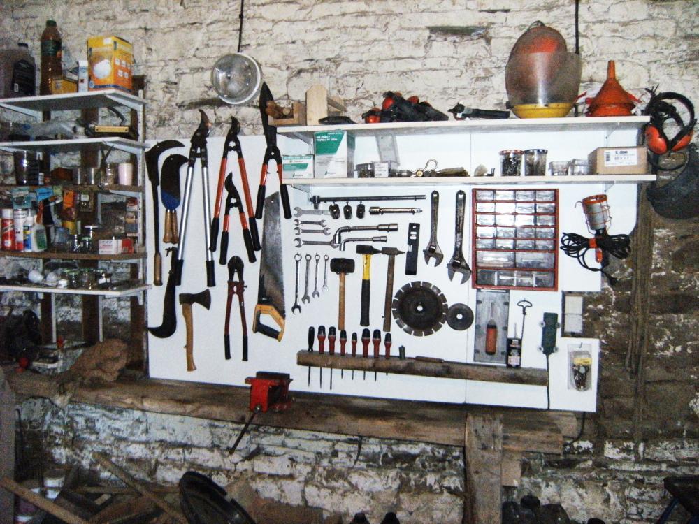 10 novembre 2010, les outils rangés par Pascal.